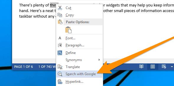 """Cara Merubah """"Search with Bing"""" pada Microsoft Word Menjadi Google"""