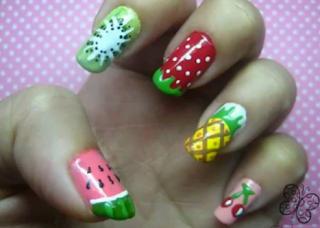 unha decorada de frutas