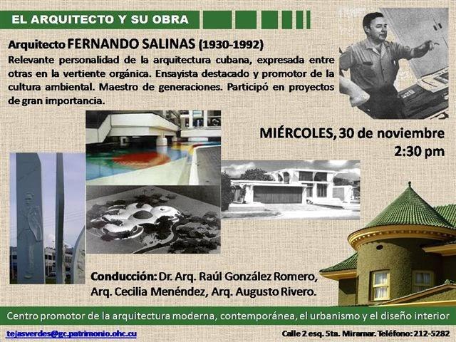 Fernando salinas en el arquitecto y su obra for Arquitectos y sus obras