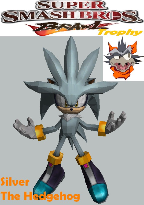 Silver the Hedgehog Paper Model