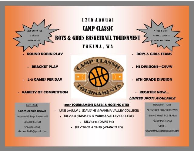 Camp Classic Basketball Tournament Flyer
