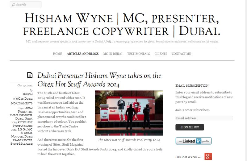 MC and content specialist in Dubai