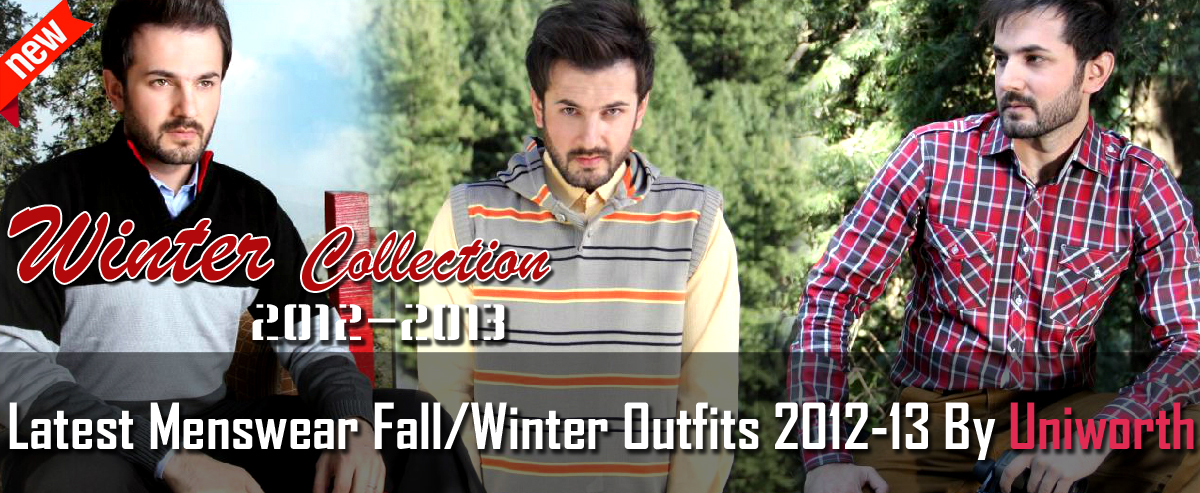 LatestMenswearFall WinterOutfits2012 13ByUniworth Banner wwwFashionhuntworldBlogspotcom - Uniworth men winter collection 2012-2013