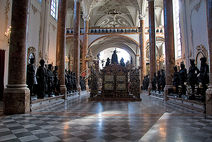 Image result for Hofkirche. monument to Emperor Maximilian I