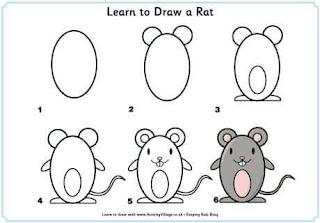 Cara Menggambar Tikus