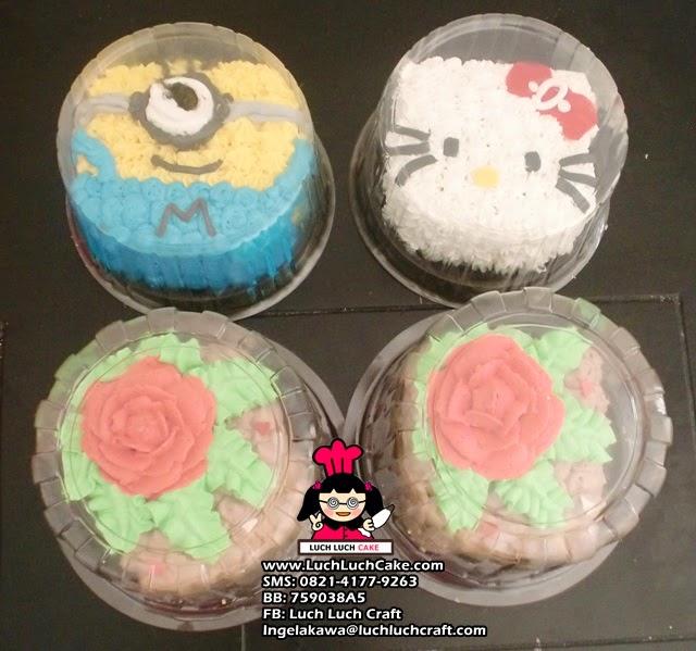 Mini Cake Minion, Hello Kitty, Bunga Mawar (repeat order)
