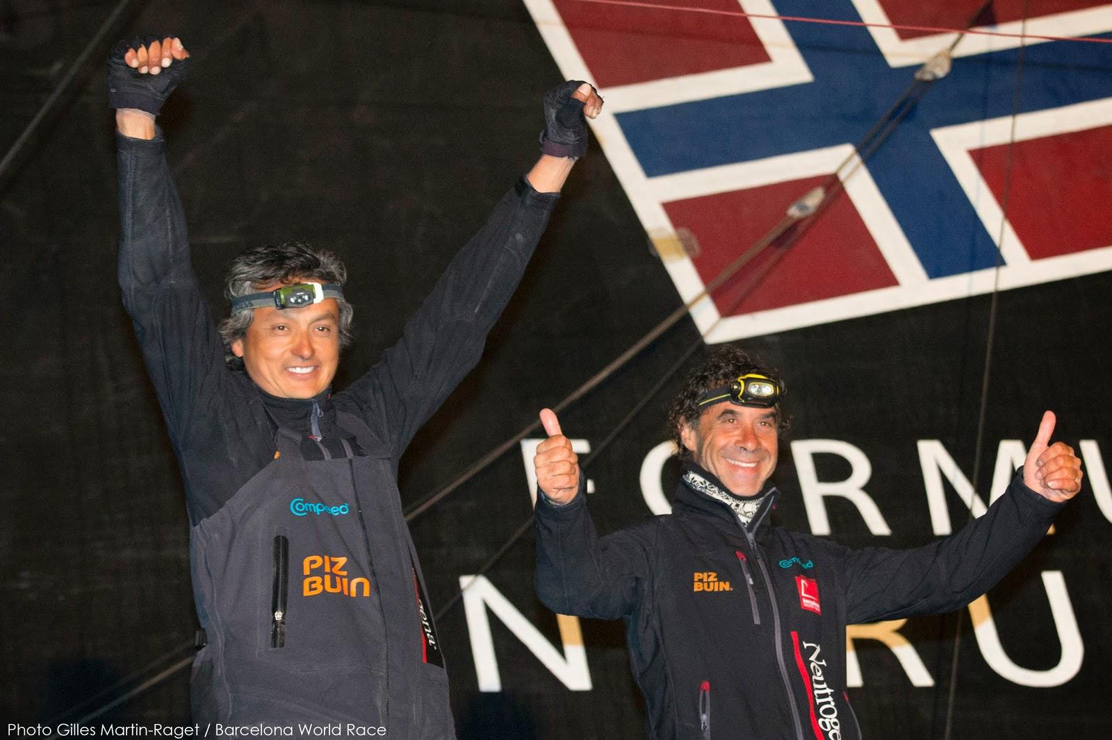 Guillermo Altadill et José Muñoz, deuxièmes de la Barcelona World Race.