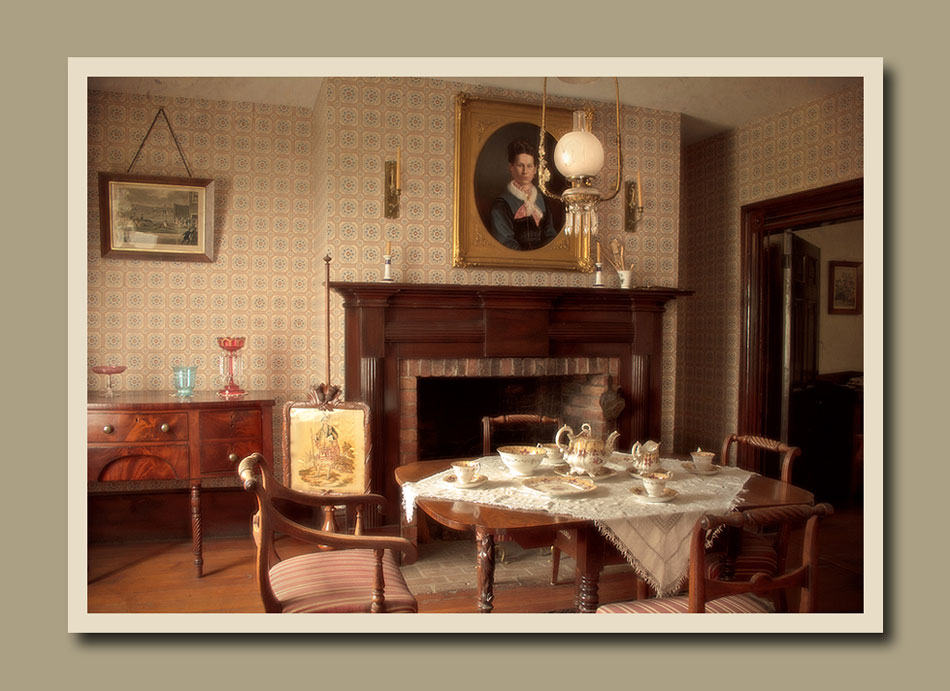 The gracious dining room of Burwick House at Black Creek Pioneer Village.  Holly Cawfield Photography