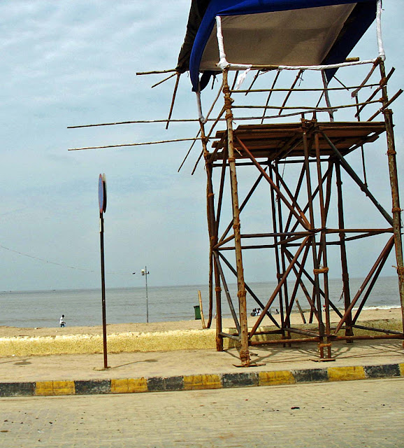 life guard house on Juhu beach