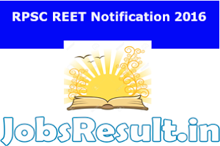 RPSC REET Notification 2016