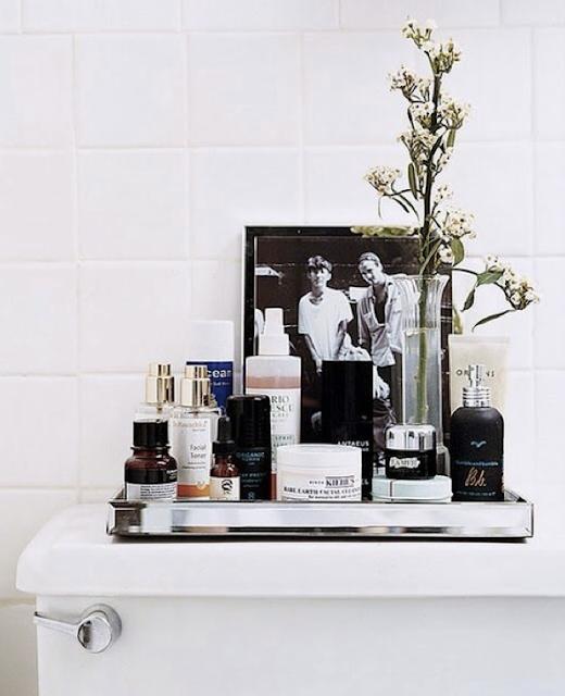 Organizing in the bathroom