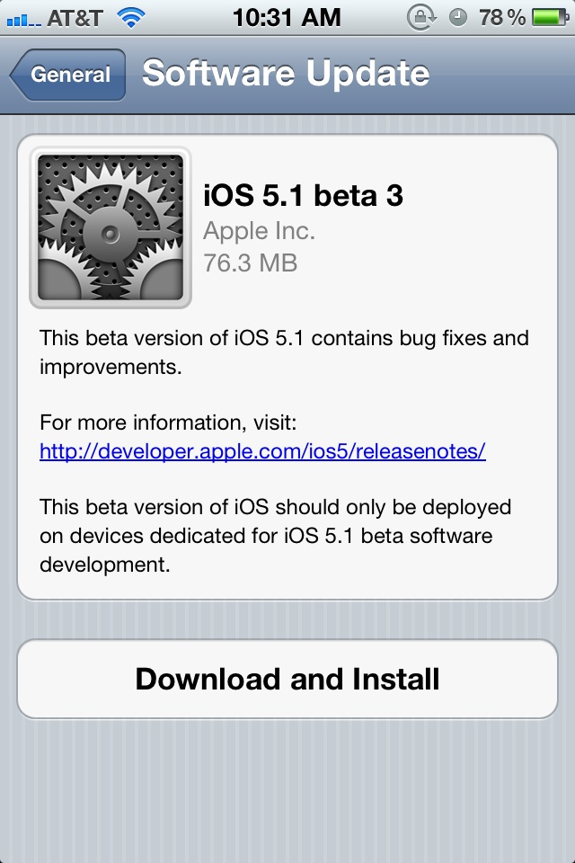 Download iOS 5.1 Beta 3