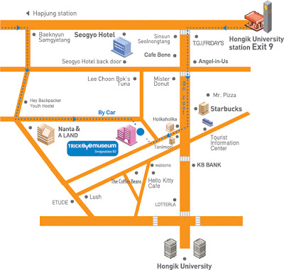Directions to trick eye museum in Seoul