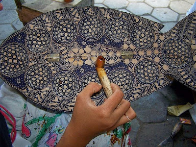 wooden batik craft
