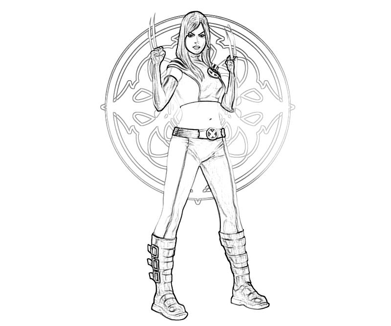 printable-marvel-vs-capcom-x-23-skill_coloring-pages