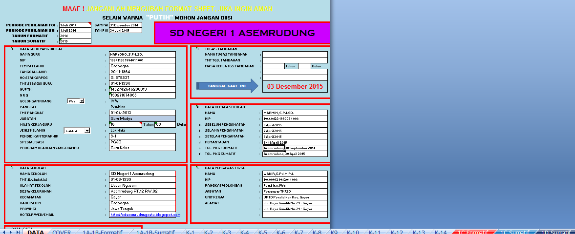 Quot Aplikasi Pkg Amp Pkks 2015 Terbaru Quot Sd Negeri 1 Asemrudung