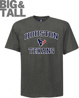 Big and Tall Houston Texans T-Shirts