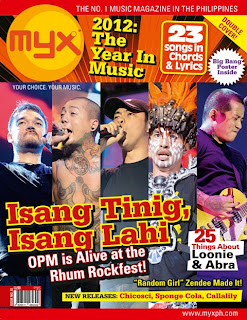 Tanduay Rhum Rockfest Artists Covers MYX Magazine Issue 32 (January 2013)