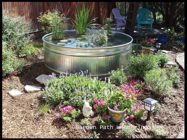 garden path wanderings stock tank