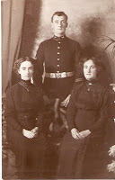 A soldier & his sisters