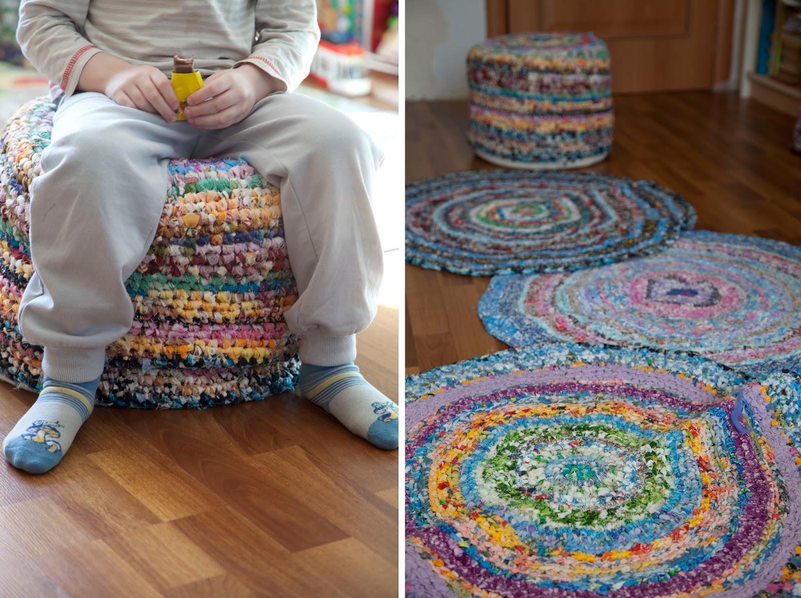 12 необычных идей как сделать коврики из старых вещей 14