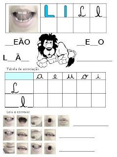 Atividades Alfabetização - Método Fônico L