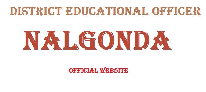 DEO Nalgonda Website Nalgonda DEO Website district Educational Officer