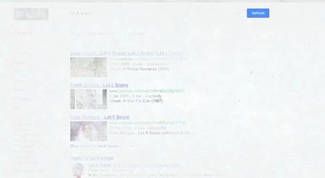 Google's 'let it snow' Easter egg