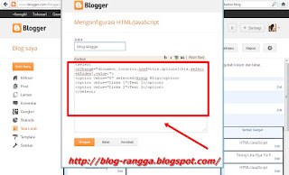 Cara Membuat Drop Down Menu Buat Blog