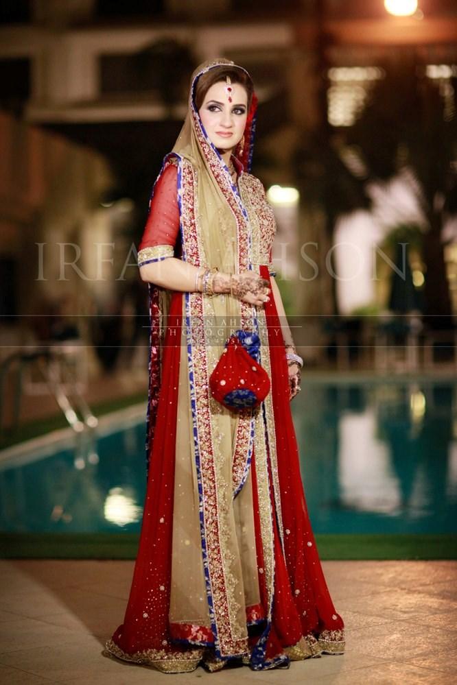 10 Most Inspirational Pakistani Red Color Bridal Dress