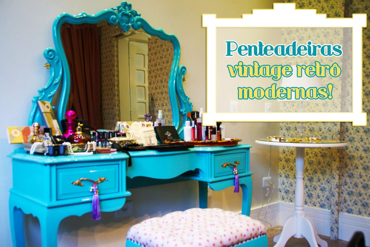 Penteadeiras vintage retrô e modernas – nos quartos e no banheiro  #0896C0 1200 802