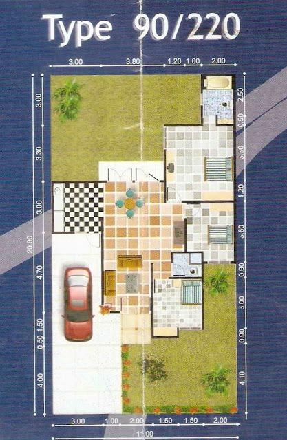 denah rumah tipe 90 200 1 lantai desain denah rumah