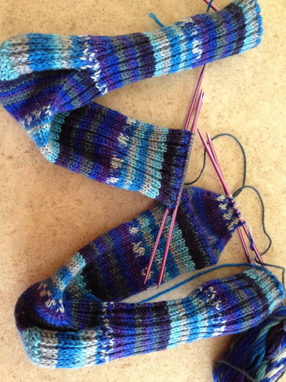 Knit Kitchener Stitch To Finish A Sock : Discover your inner knitter with doris what s on my