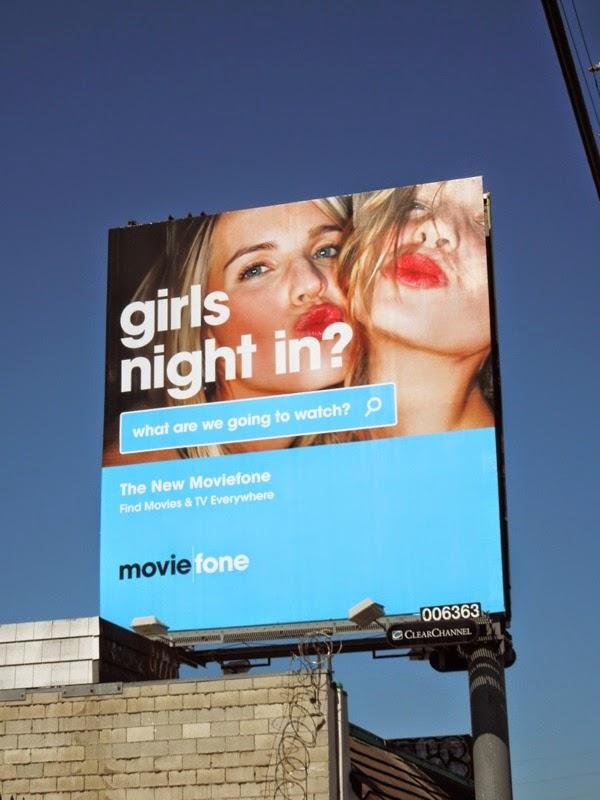 Girls night in? Moviefone billboard
