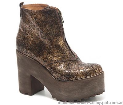 Traza colección otoño invierno 2014. Moda botas 2014.