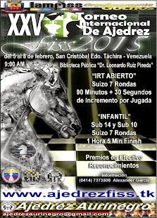 Venezuela: XXV Torneo Internacional de Ajedrez FISS 2015 (Dar clic a la imagen)