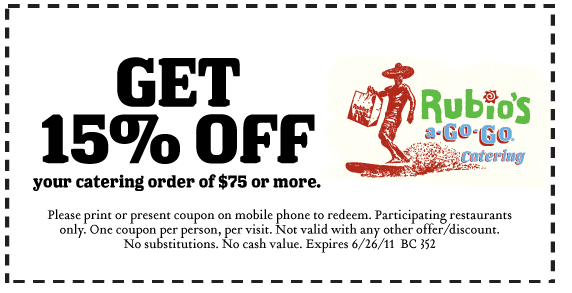 Rubios coupon code