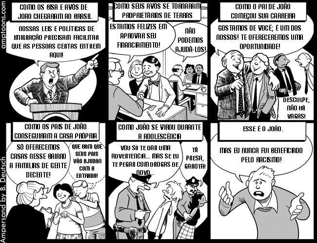 E o racismo? Racism+cartoon+2+pTBR