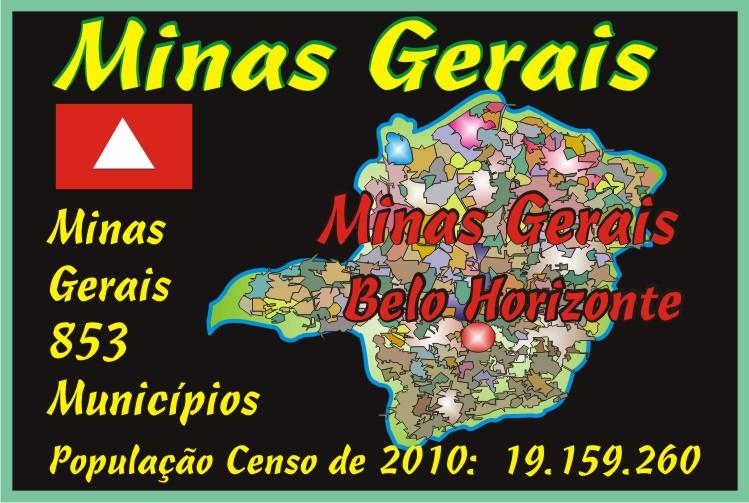 Mapa Minas das Minas Gerais