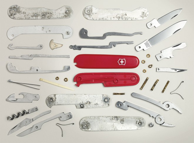 how to clean a sticky swiss army knife