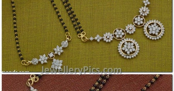 Simple Diamond Mangalsutra Deisgns Collection Latest
