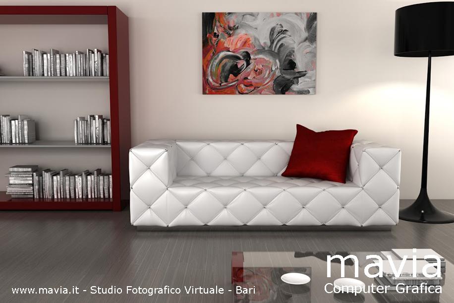 Salotto con divano idee per il design della casa - Divani stretti e lunghi ...