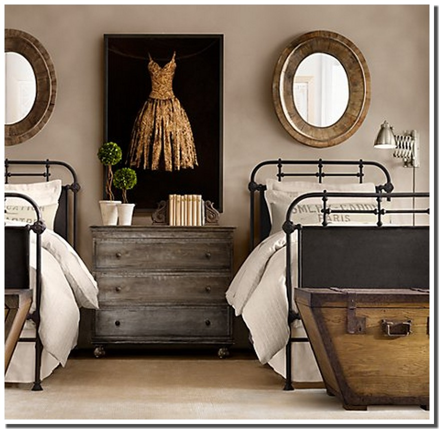 image chambre vintage solutions pour la d coration. Black Bedroom Furniture Sets. Home Design Ideas