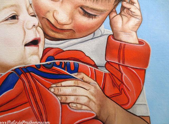 Portrait, Portrait Artist, Portrait Painting, Toronto Portrait Artist, Brothers, Boys, Baby, Baby Portrait, Art, Artist, Toronto, Toronto Art, Canadian Artist, Realism