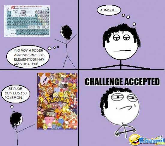 Meme aprendiendo la tabla periódica