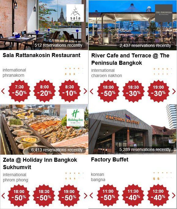 バンコクのレストラン予約アプリ「eatigo」