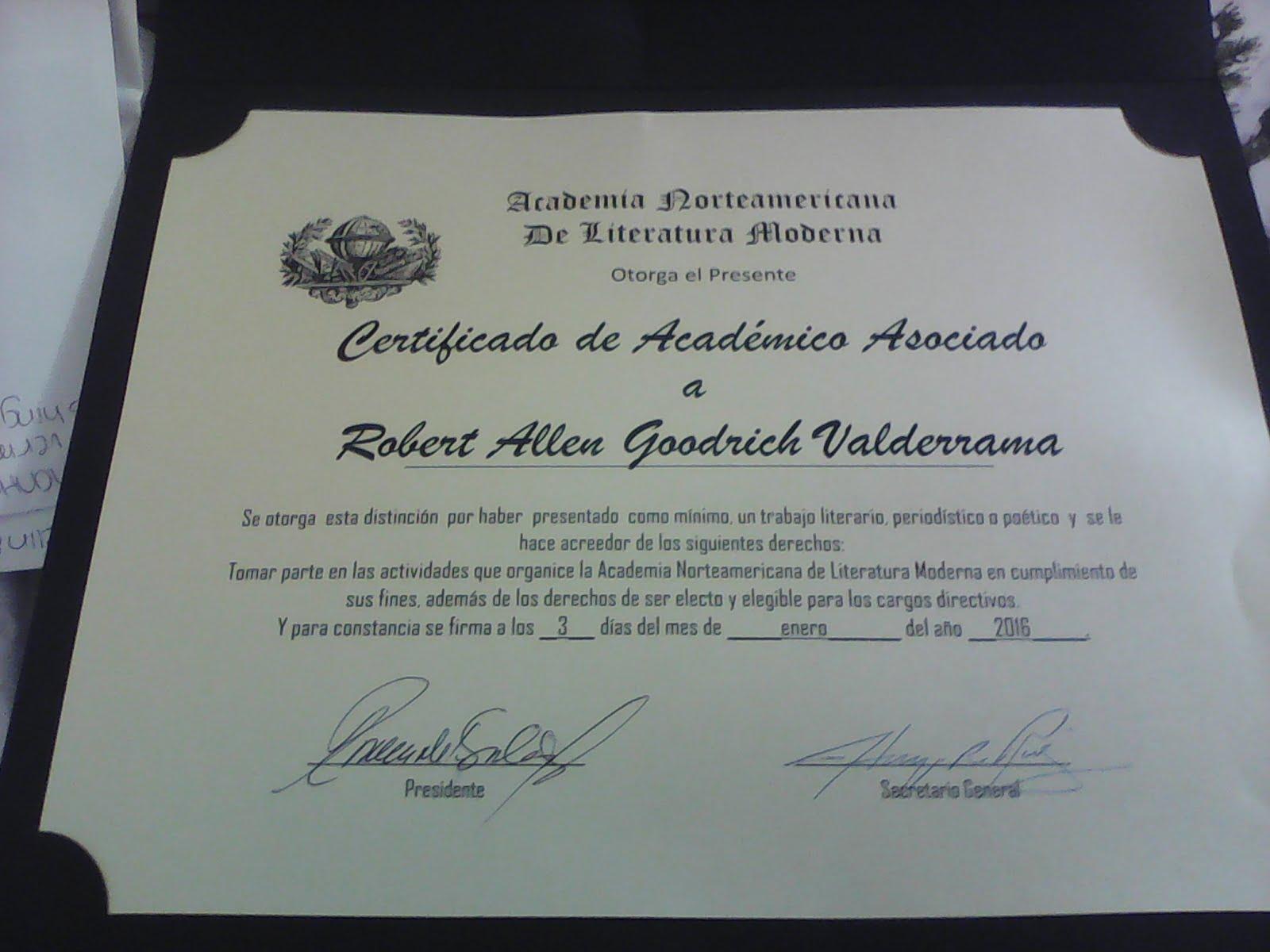 Academia Norteamericana de Literatura Moderna USA
