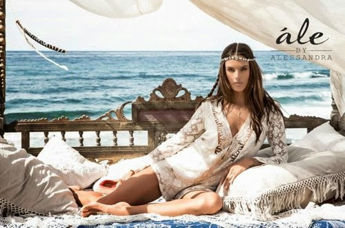 Supermodel @ Alessandra Ambrosio Teams with Planet Blue for Summer 2015  Ale Swimwear