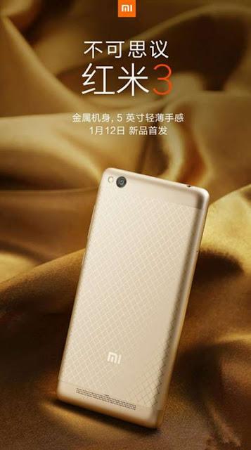 Xioami Redmi 3 akan dibekali chipset Snapdragon 616, prosesor octa-core 1,7 Ghz