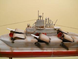 maqueta del submarino chino tipo 33g a escala 1-144